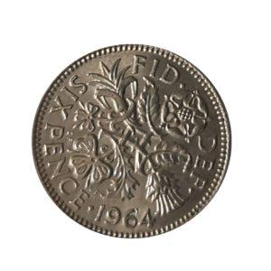 1964 Sixpence - Queen Elizabeth II