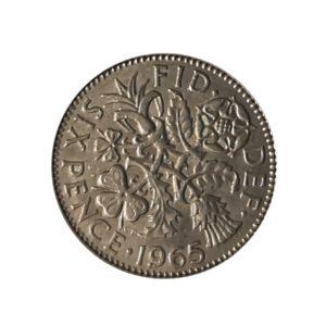 1965 Sixpence – Queen Elizabeth II