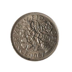 1967 Sixpence – Queen Elizabeth II