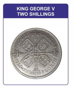 King George V Two Shillings