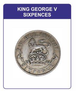 King George V Sixpences