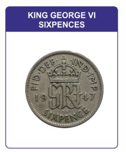 King George VI Sixpences