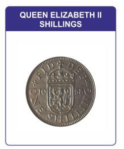 Queen Elizabeth II One Shillings