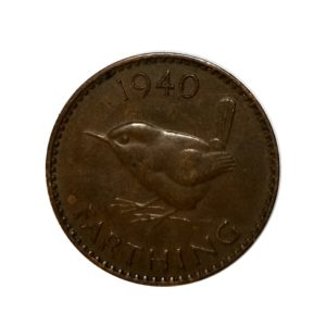1940 Farthing, King George VI, Wren Design