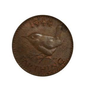 1944 Farthing, King George VI, Wren Design
