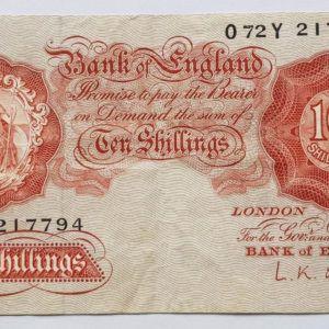 O'Brien Ten Shillings Note