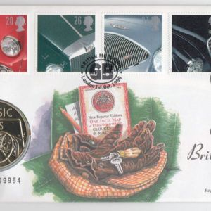 1996 A Century of British Motoring Stamps and Medallion