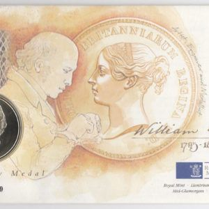 1995 William Wyon Bicentenary Medal and Stamp Cover