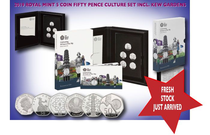 2019 Royal Mint Culture Set with Kew Gardens 50p