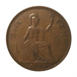 1944 King George VI Penny