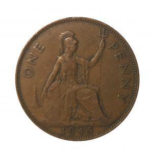 1945 King George VI Penny