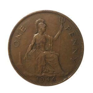 1946 King george VI penny