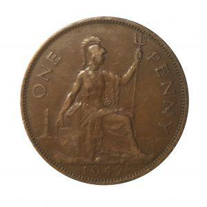 1947 King george VI Penny