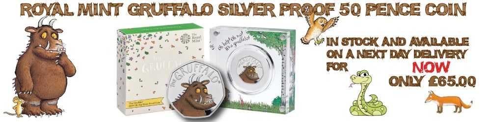 2019 Royal Mint Gruffalo silver Proof 50p Coin