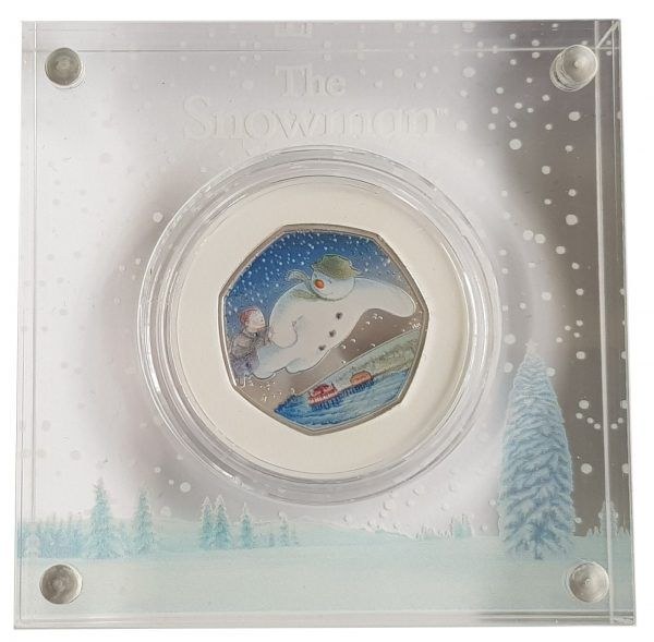 2018 Royal Mint Snowman Silver Proof 50 Pence