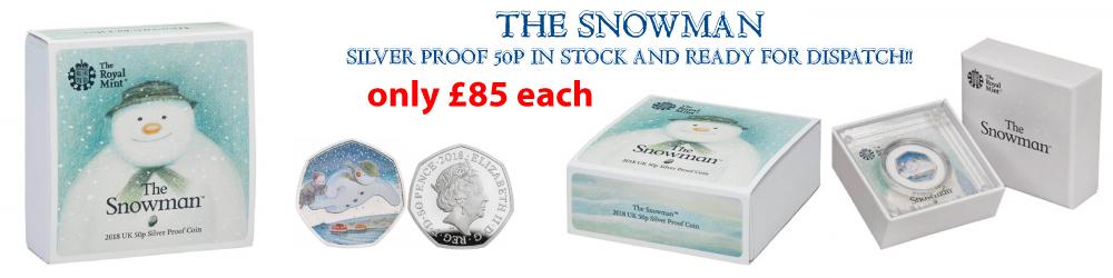 Royal Mint Snowman Silver Proof 50p