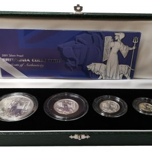 2001 Royal Mint Silver Proof Britannia Collection