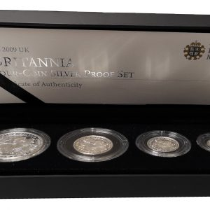 2009 Royal Mint Britannia Four Coin Silver Proof Set