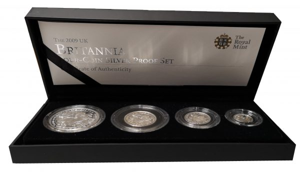 2009 Royal Mint Britannia Four Coin Silver Proof Set