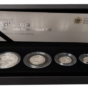 2008 Royal Mint Britannia Four Coin Silver Proof Set