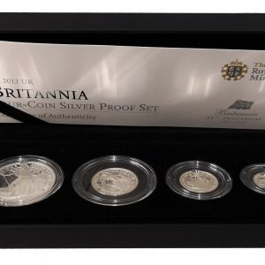 The 2012 Royal Mint Britannia Four Coin Silver Proof Set