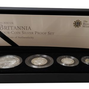 2010 Royal Mint Britannia Four Coin Silver Proof Set