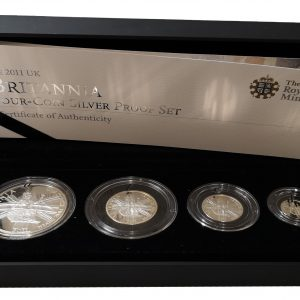 2011 Royal Mint Britannia Four Coin Silver Proof Set