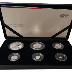 2017 Royal Mint Britannia Six Coin Silver Proof Set