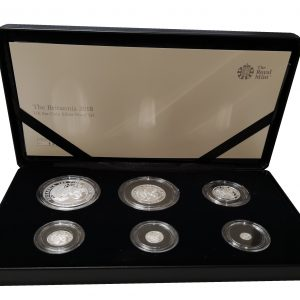 2018 Royal Mint Britannia Six Coin Silver Proof Set